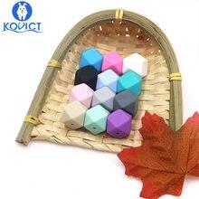 Kovict – perles hexagonales en Silicone, 17mm, 100 pièces, de qualité alimentaire, pour bébé, Dentition pour fabrication de collier, rongeur