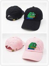 2020 Fashion Sad Meme Frog Dad Hats Food Baseball Caps Curved Chapeau Visor Casquette Brand Bone Fashion Hats Top Quality