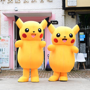Cosplay Anime Costume Doll Plush-Toy Dress Pikachu Mascot Fur Gift Funny Fancy Party
