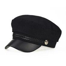 Модная кружевная хлопковая шапка Кепка, Женская Повседневная Уличная уличная Кепка на плоской подошве, элегантная однотонная осенне-зимняя теплая шапка-берет для женщин