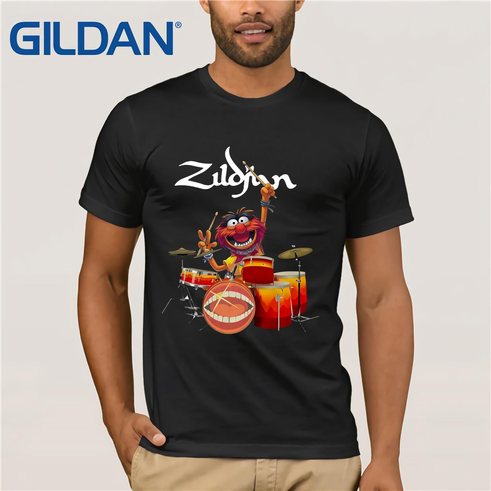 Avedis Zildjian Sesame Street Muppet Drum T-SHIRT 2019 Men's Short Sleeve T-Shirt