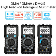 DM91A Mini Digital Multimeter Intelligent Multimeter 9999 Counts Auto Range Voltage Ammeter Meter Multi Meter Multitester цена 2017