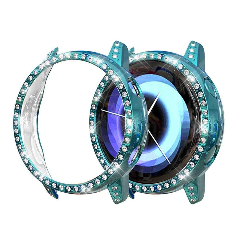 واقية حقيبة لهاتف سامسونج galaxy watch نشط الوفير المضادة للسقوط زلزال واقية التغطية الماس TPU حالة ووتش اكسسوارات 42