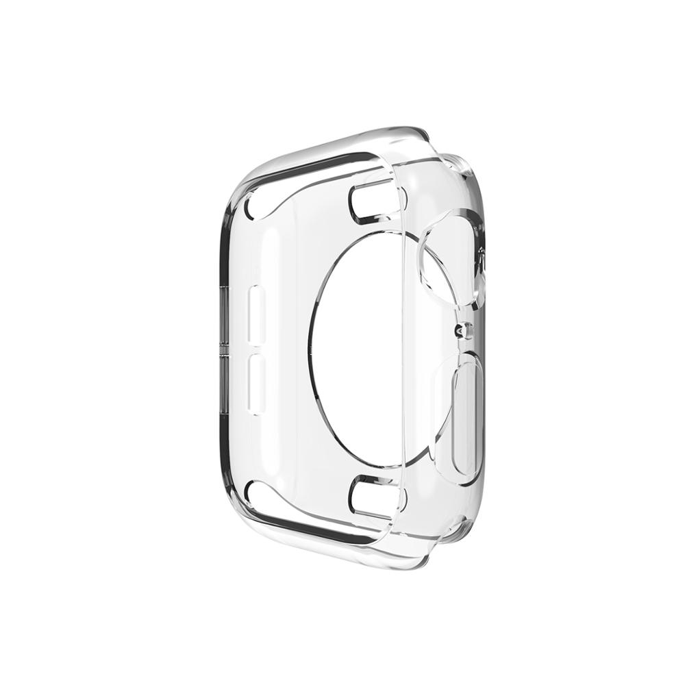 Защитный чехол для часов Apple Watch 5/4/3/2/1 40 мм 44 мм, мягкий силиконовый чехол s для iWatch серии 42 мм 38 мм