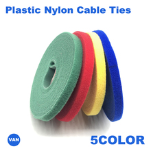 5M Nylon Cable Ties Power Wire Loop Tape Multifunction Nylon Straps Fastener Office Desktop Reusable Magic Tape Wire finishing