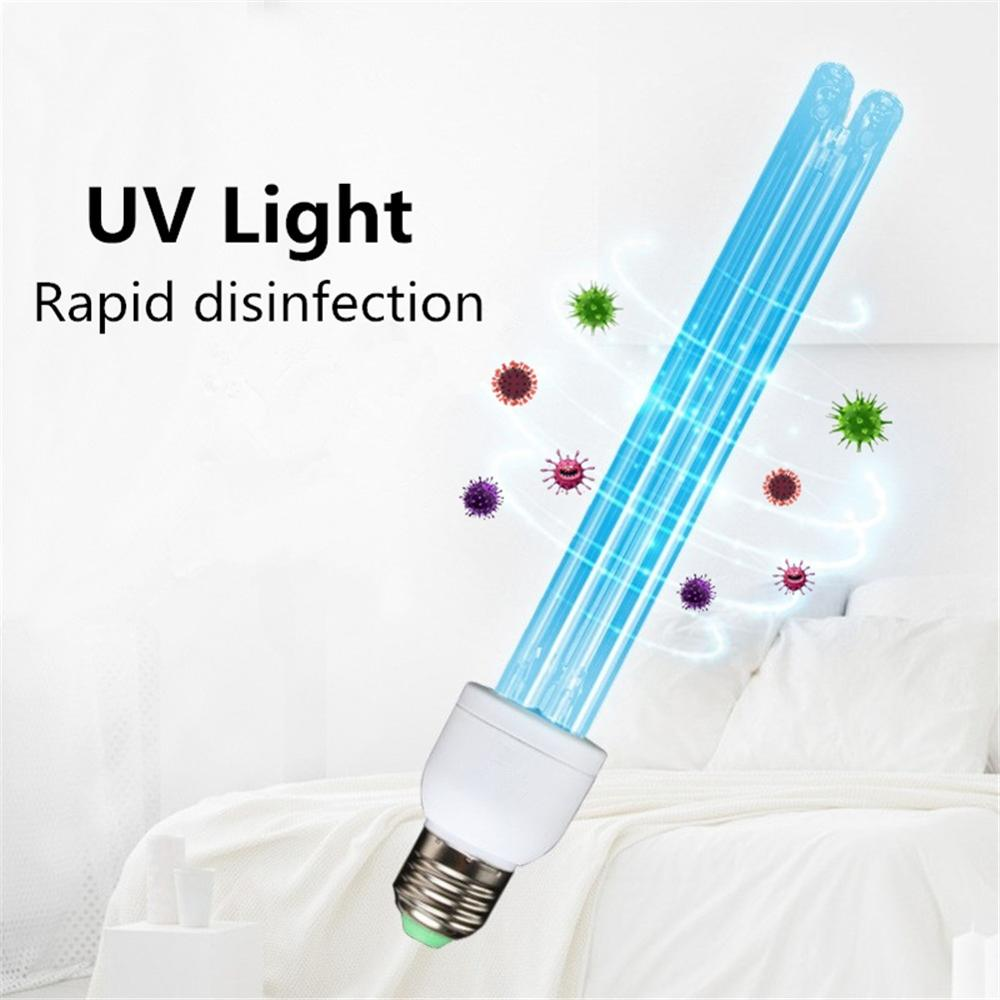 E27 UVC Ultraviolet UV Light Tube Bulb Disinfection Lamp Ozone Sterilization Mites Lights Germicidal Lamp Bulb AC220V 20W