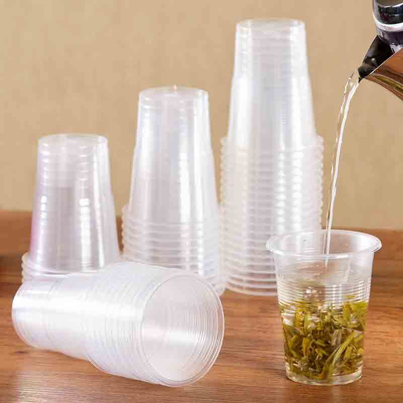 50pcs/pack 165ml <font><b>Disposable</b></font> Plastic <font><b>Cup</b></font> Household Tea Coffee <font><b>Cup</b></font> <font><b>Beer</b></font> <font><b>Cup</b></font> image