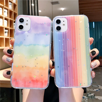 Rainbow Phone Case For iPhone 6 6S 7 8 Plus Glitter Soft TPU Colorful Back Cover Case For iPhone 11 11 Pro Max X XR Xs Max Case