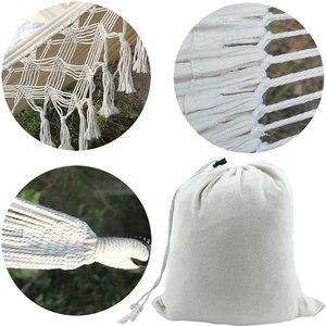 Image 3 - Tassel Hammock White Nylon Canvas hammock