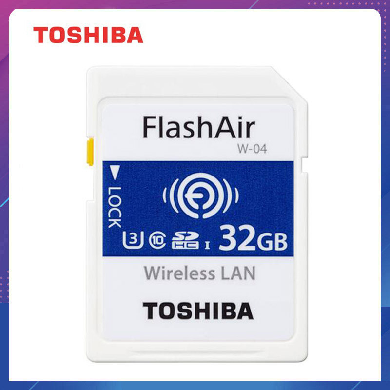 Memory-Card Camera Flash Wifi-Adapter TOSHIBA Wireless SD 16GB 64GB 32GB Tarjeta