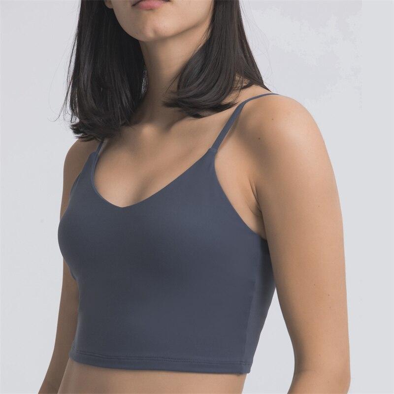Женский укороченный топ Nepoagym, спортивный бюстгальтер средней поддержки, дышащий жилет для фитнеса со встроенным бюстгальтером
