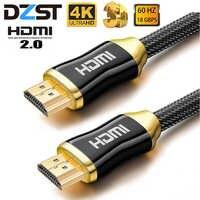 DZLST HDMI câble 4K Ultra HD 60 HZ mâle à mâle haute qualité plaqué or joint tressé câble pour HD TV projecteur Hdmi 2.0 câble