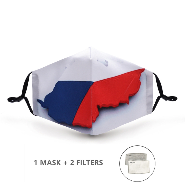 Variation #41 of fashion reusable protective pm2.5 filter printing mouth mask anti dust face mask windproof mouth-muffle bacteria proof flu mask