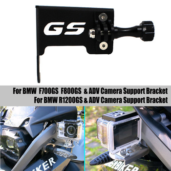 For BMW R1200GS LC Adventure F700GS F800GS ADV Motorcycle Driving Recorder and Camera Bracket GoPro Holder Aluminum 2013-2018