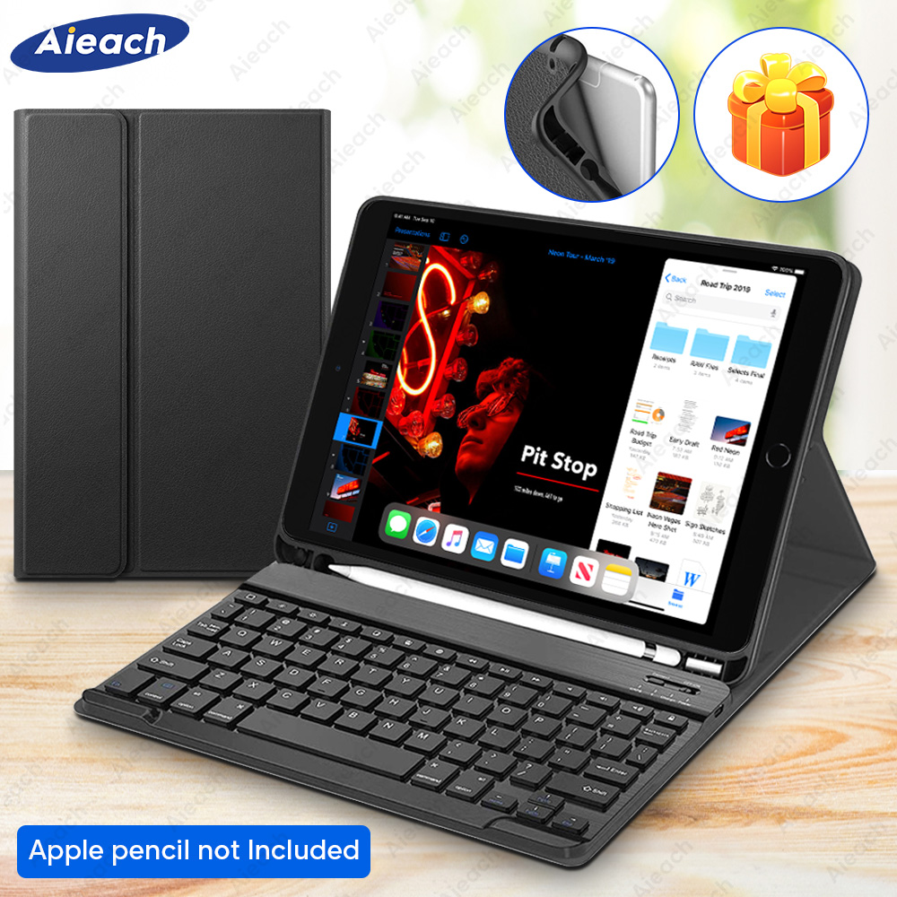 For IPad Air 2 Air 3 Air 1 Keyboard Case With Pencil Holder Bluetooth Keyboard Cover For IPad 2019 Air 3 10.5 Air 2 1 9.7 Case
