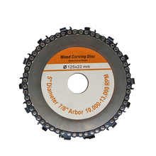Wood Slotted Saw Blade Set Wooden Portable Carving Disc Chain Wheel Woodworking Strong Toughness for Angle Grinder