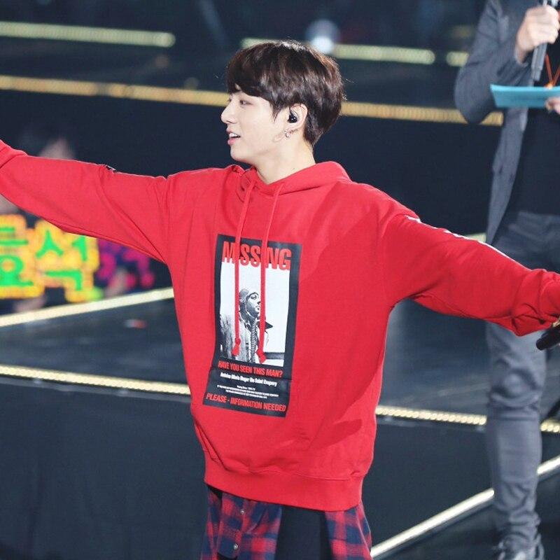 Kpop Jungkook Hooded Hoodies Weightlifting Fairy Jinfu Beads Nam Ju Hyuk With Autumn Winter Sweatshirts K-pop Bangtan Boys Coat