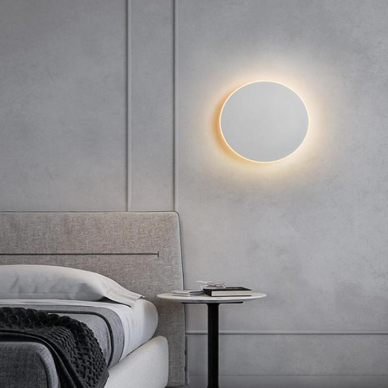 3 цвета регулируемый светодиодный настенный светильник с сенсорным