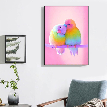 HUACAN 5D Diamond Painting Parrot Animal Home Decoration Full Square Drill Embroidery Bird Rhinestone Picture