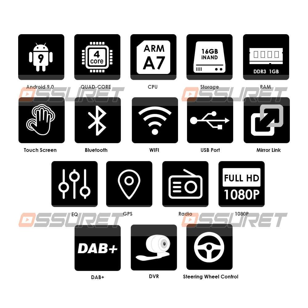 Ossuret Android 9.0 Auto radio GPS Navigation für Hyundai Accent Solaris Verna Multimedia DVR SWC FM CAM-IN BT USB TUPFEN DTV OBD PC