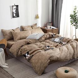 28 Good Stuff BestSeller 2019 Lovely Doggie Printing Duvet Cover Men Style Brown PureColor Bedsheet Bedding Set King BedCover