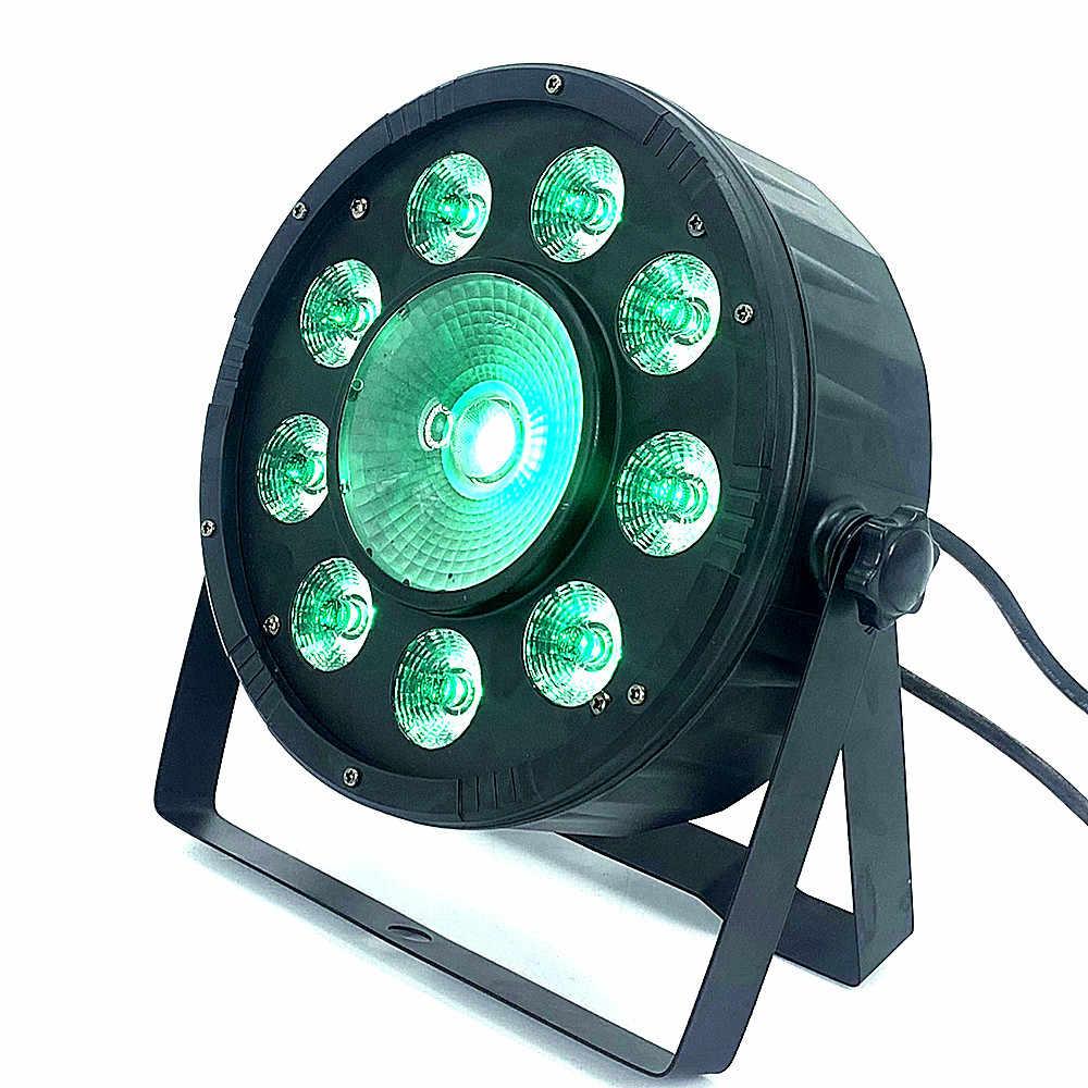 LED ضوء المرحلة 9X10 واط + 30 واط كشاف لمبات LED مسطح تركيبة إضاءة RGB 3 لون مروحة التبريد الصامت المزدوج نير قوس DMX DJ