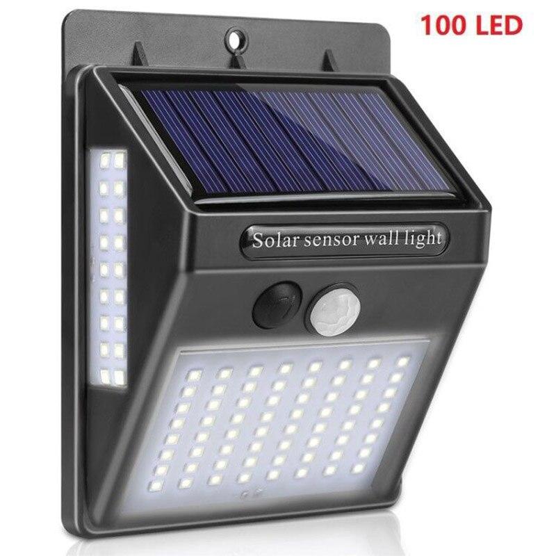 Solar Light 100 LED Unlight For Garden Decoration Garden Light Door Light Outdoor PIR Motion Sensor Waterproof Wall Light