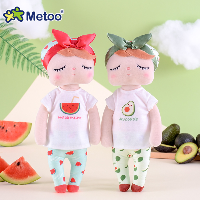 Metoo Doll Plush Toys For Girls Baby Cute Cartoon Fruit Angela Rabbit Stuffed Animals For Kids