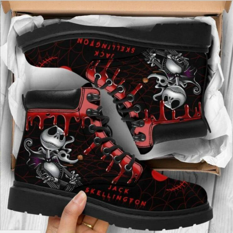 Martin Boots Women's Autumn and Winter New2020British Fashion Women's Tooling Boots Skull and Flower Print High top Boots Ladies