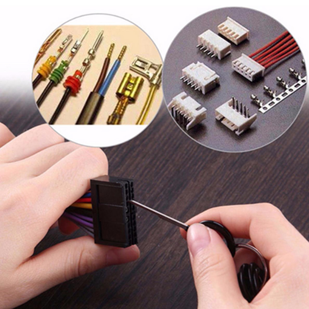41pcs Set Car Terminal Removal Tool Electrical Wiring Crimp Anti Needle Remover Car Repair Tools Stainless Steel
