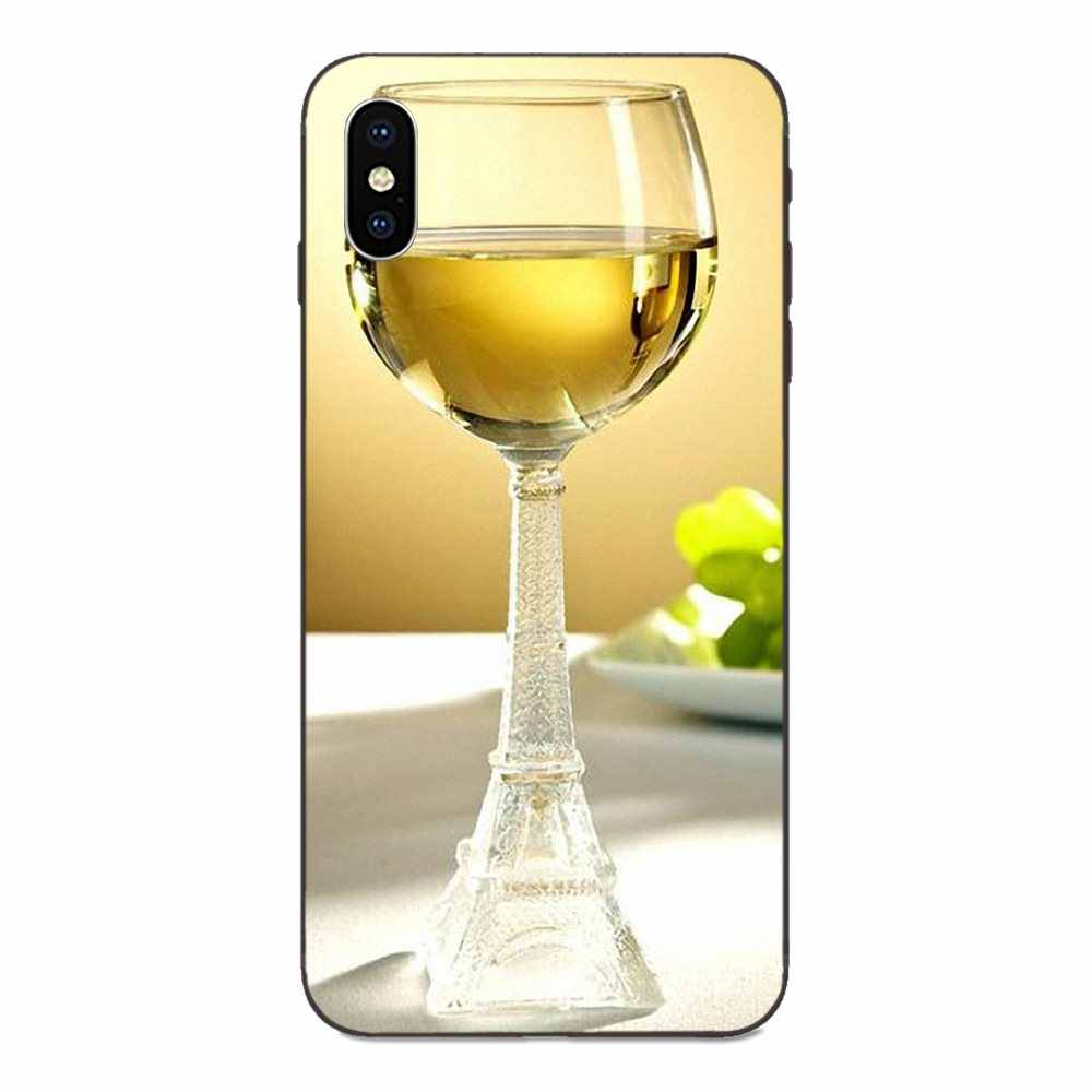 Paris Eiffel Tower Red Wine Glass For Huawei Mate 9 10 20 P8 P9 P10 P20 P30 Lite Mini Play Pro P smart Plus Z 2017 2019