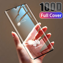 100D Tempered Full Cover Protective Glass on For Huawei P30 P20 Lite Pro Screen Protector Film For Mate 20 10 9 Lite Pro Glass