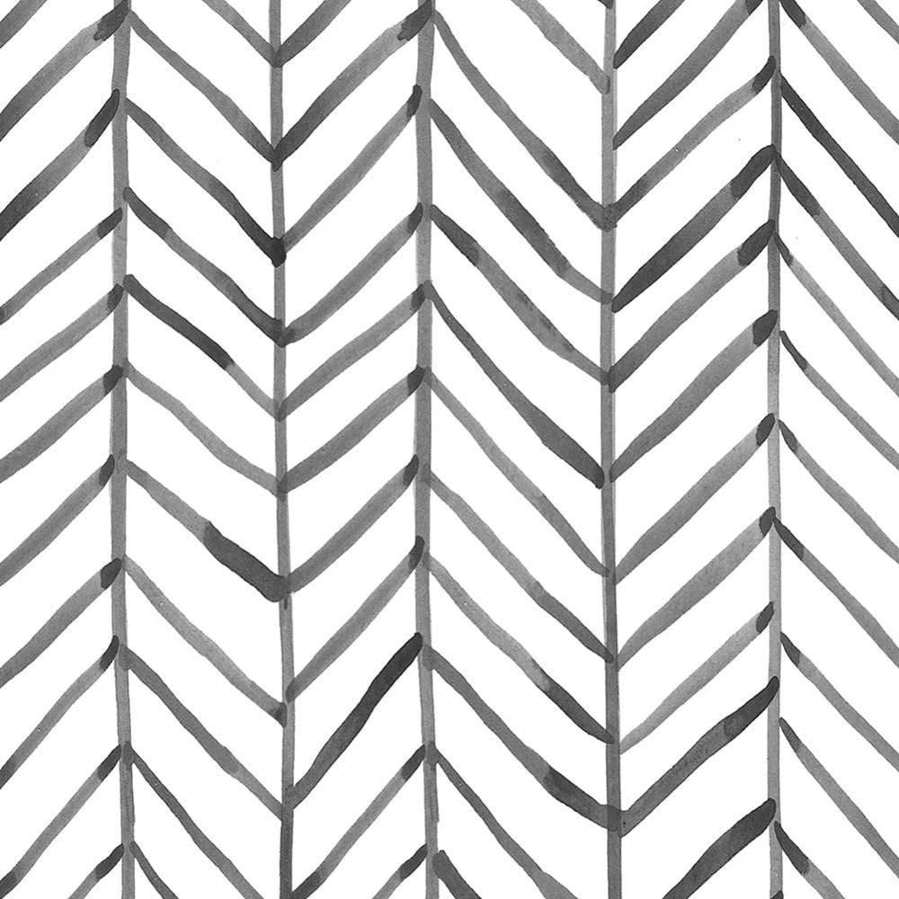 Luckyyj Modern Stripe Peel And Stick Wallpaper Herringbone Black White Vinyl Self Adhesive Contact Paper Home Decoration Sticker Wallpapers Aliexpress