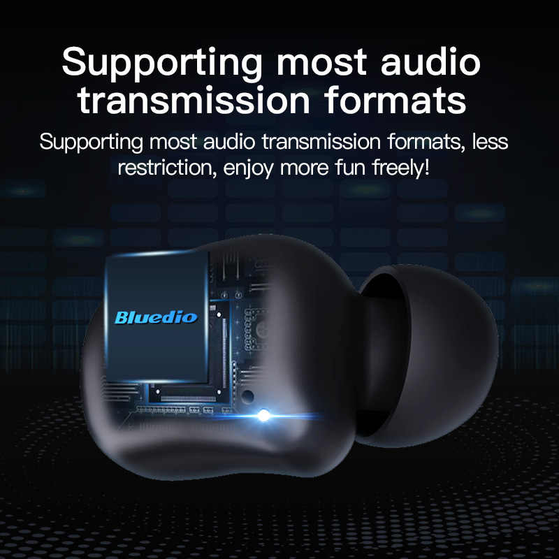 Bluedio t-elf 2, auriculares Bluetooth, auriculares inalámbricos TWS, resistentes al agua, Auriculares deportivos, auriculares inalámbricos, en el oído, caja de carga