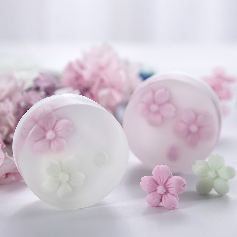 3D Cherry Soap Mold Silicone Soap Making Molds Cute Flower Round Resin Mould For DIY Home Handmade Craft