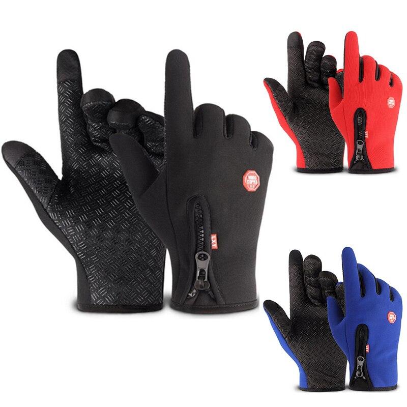 Водонепроницаемые зимние теплые перчатки, мужские лыжные перчатки, перчатки для сноуборда, мотоциклетные перчатки для езды, зимние перчатк...
