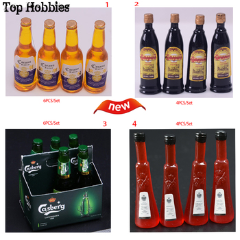 1/6 stage props Mini foreign wine Beer/Honeydew coffee wine of Joseph мини фигурки для кухни Fit 12Dollhourse Action Figure image