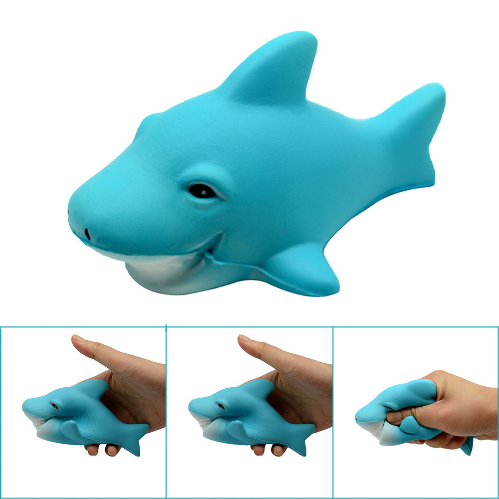 Decompression Slow Rebound Toy Sharks Stress Reliever Scented  Super Slow Rising Kids Toy Squeeze Toys  L113