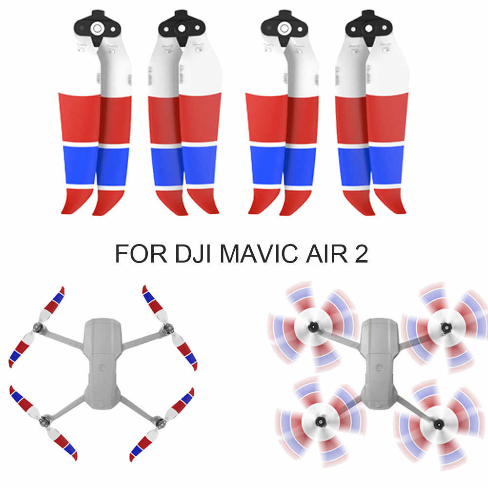 4PCS Low-Noise 7238F Quick-Release Foldable Propellers For DJI MAVIC AIR 2 Drone