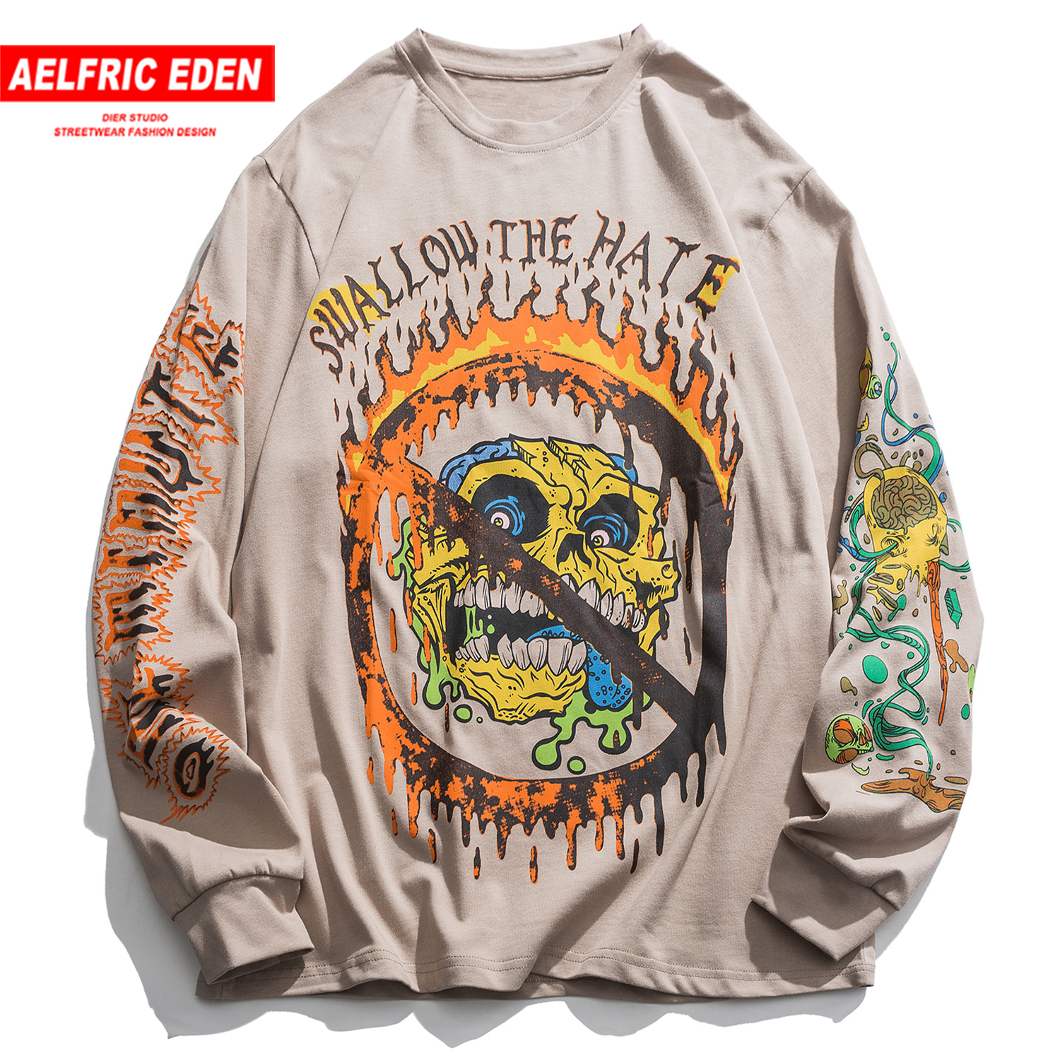 Aelfric Eden Hip Hop Cartoon Graffiti Mens Sweatshirts 2020 Harajuku Long Sleeve Fashion Streetwear Casual Cotton Male Pullover