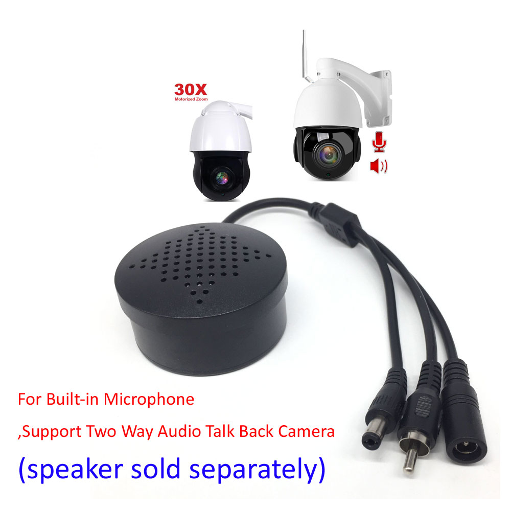 For Built-in Microphone,Support Two Way Audio Talk Back 2MP 5MP POE WIFI 30X ZOOM PTZ Camera (speaker Sold Separately)