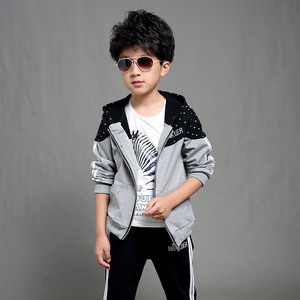 Image 4 - Boys Clothes Set Kids Spring Autumn Jogging Tracksuits Baby Boys Hooded Jackets+Pants Sports Suit Children Clothing Set 120~160
