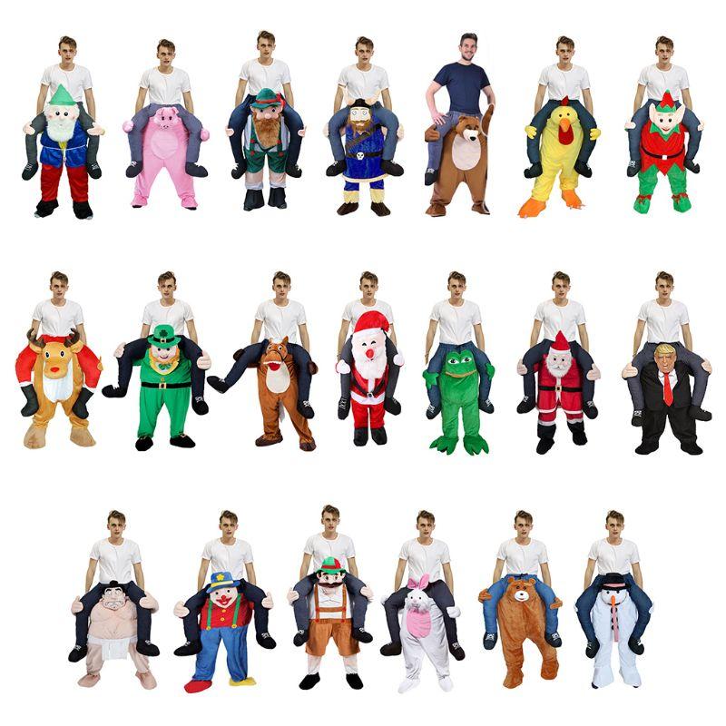 Unisex Funny Piggy Back Cosplay Costume Christmas Halloween Animal Ride-On Pants  NEW