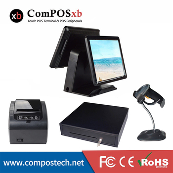 ComPOSxb best selling pos all in one Point of sale system 80mm thermal printer 1D barcode scanner