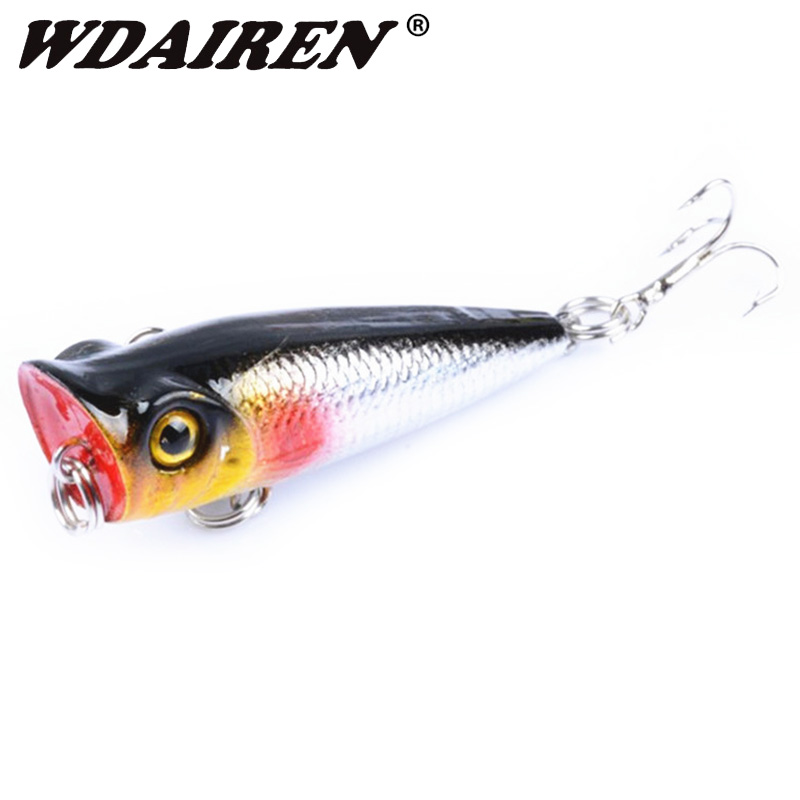 1Pcs Topwater Fishing Lure 5cm 5g Floating Popper Wobblers Artificial Hard Fake Baits Bass Crankbaits Isca Fishing Tackle DW-329