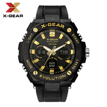 X-GEAR Casual Sport mens Watches Alloy Top Brand Luxury Military waterproof Watch Man Clock X-3788 Fashion Luminous watch gift bicycle mounted waterproof shockproof mini aluminium alloy luminous clock watch gold silver