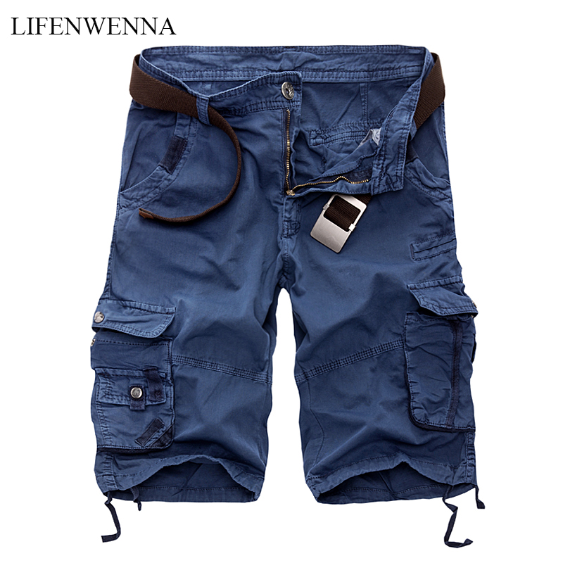 LIFENWENNA Mens Military Cargo Shorts 2019 Brand New Army Camouflage Tactical Shorts Men Cotton Loose Work Casual Short Pants