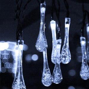 Image 2 - Rantion 30/100 Led Solar String Lights Waterdichte Raindrop String Fairy Lights Voor Patio Garden Party Gazon Vakantie Decoraties