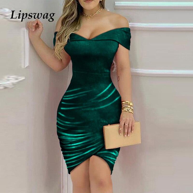 2021 Spring Autumn Elegant Solid Velvet Bodycon Party Dress Women Sexy Backless Slim Mini Dress Ladies Fashion Casual Dresses XL