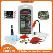 VISBELLA Car Windshield Repair Kit DIY Auto Window Repair Tools Windscreen Glass Scratch Crack Restore Polishing Hand Tool Sets